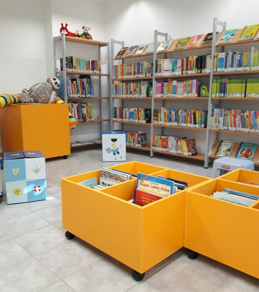 Die Kinderabteilung in der neuen Bücherei, sehr gelungen.